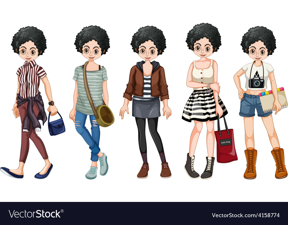 Female hipster vector | Price: 3 Credit (USD $3)