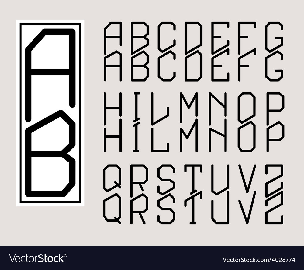 Monogram art nouveau and a set of letters vector | Price: 1 Credit (USD $1)