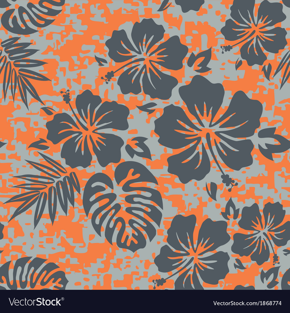 Orange grey aloha vector | Price: 1 Credit (USD $1)