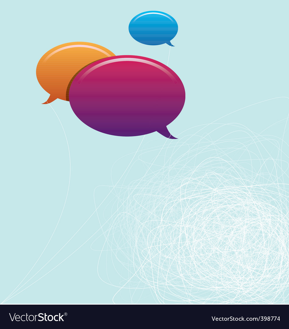 Speech bubbles copy space vector | Price: 1 Credit (USD $1)