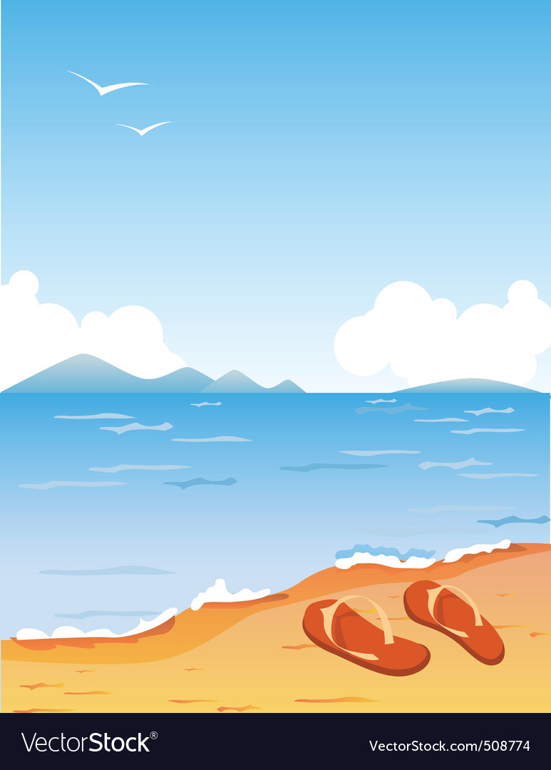Tropic beach vector | Price: 1 Credit (USD $1)