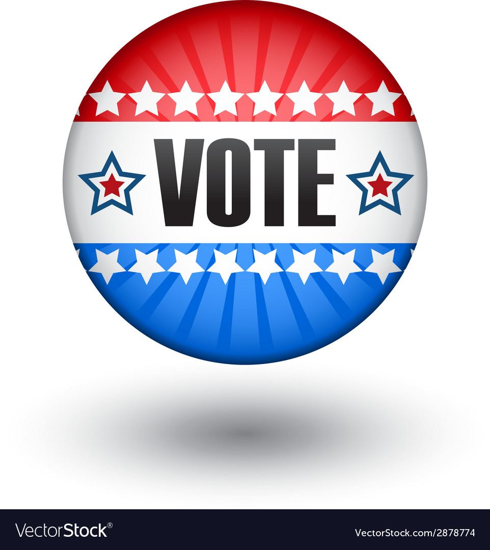 Usa vote sign vector | Price: 1 Credit (USD $1)