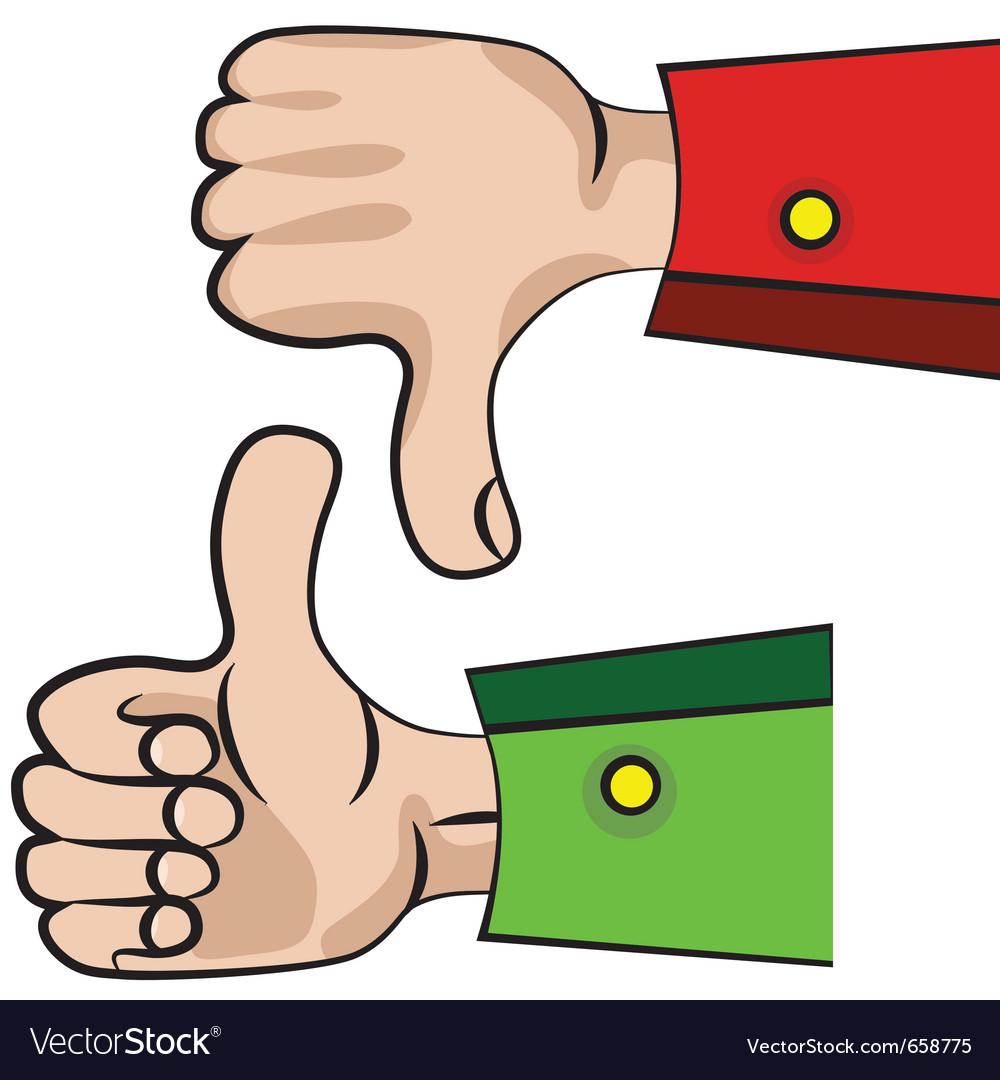 Hand gesture like or unlike vector   Price: 1 Credit (USD $1)