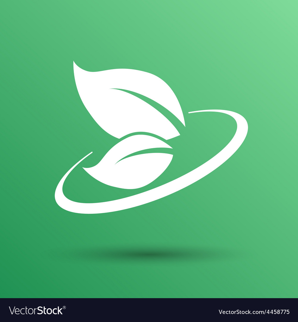 Leaf icon green symbol nature fresh sign element vector | Price: 1 Credit (USD $1)