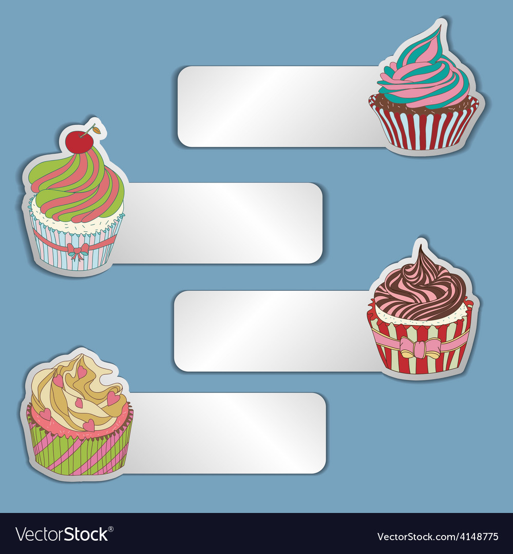 Price tag label with a cupcake write the text on vector | Price: 1 Credit (USD $1)