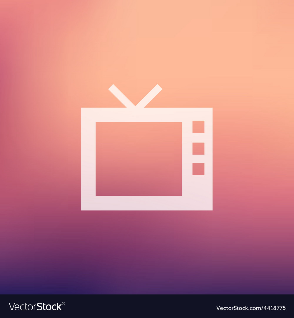 Retro television in flat style icon vector | Price: 1 Credit (USD $1)
