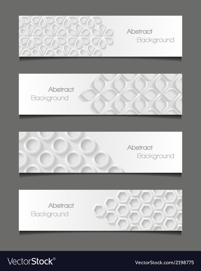 Set of abstract modern style banners vector | Price: 1 Credit (USD $1)