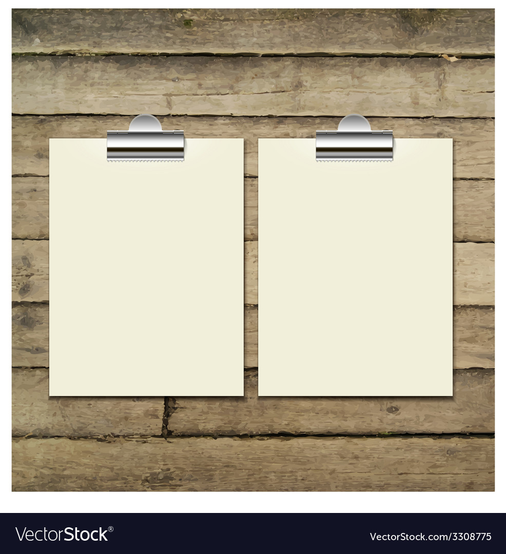 Template of a paper sheet on the wooden table vector   Price: 1 Credit (USD $1)