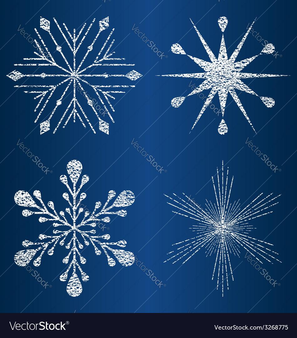 Textured snowflakes 4 vector | Price: 1 Credit (USD $1)