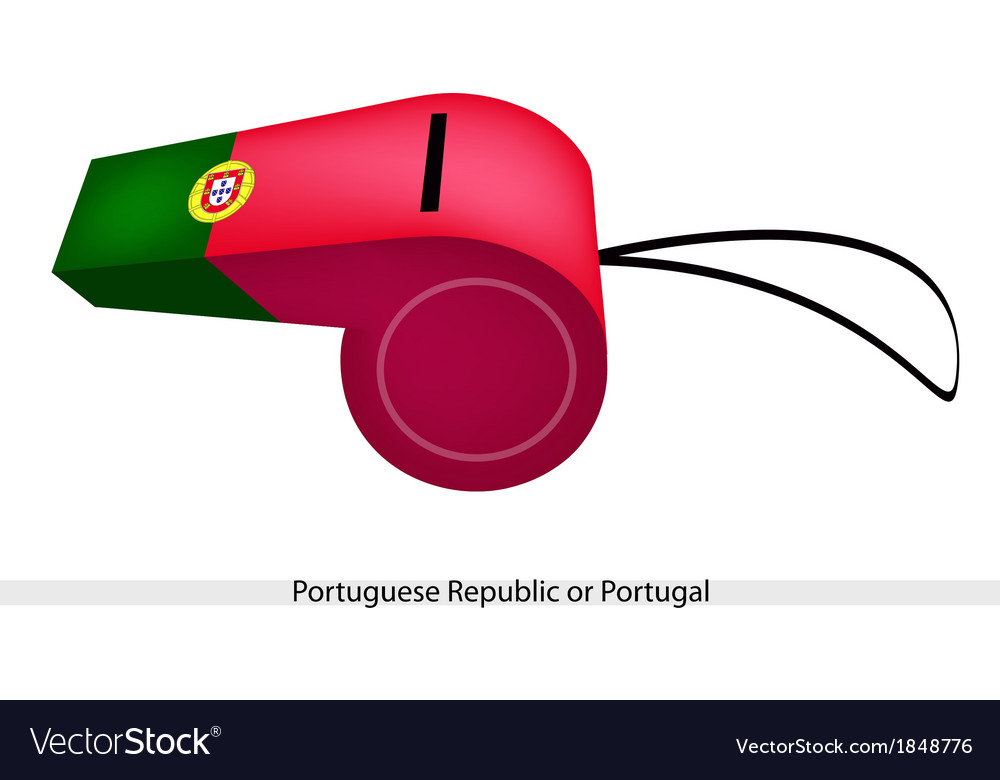 A whistle of the portuguese republic flag vector | Price: 1 Credit (USD $1)