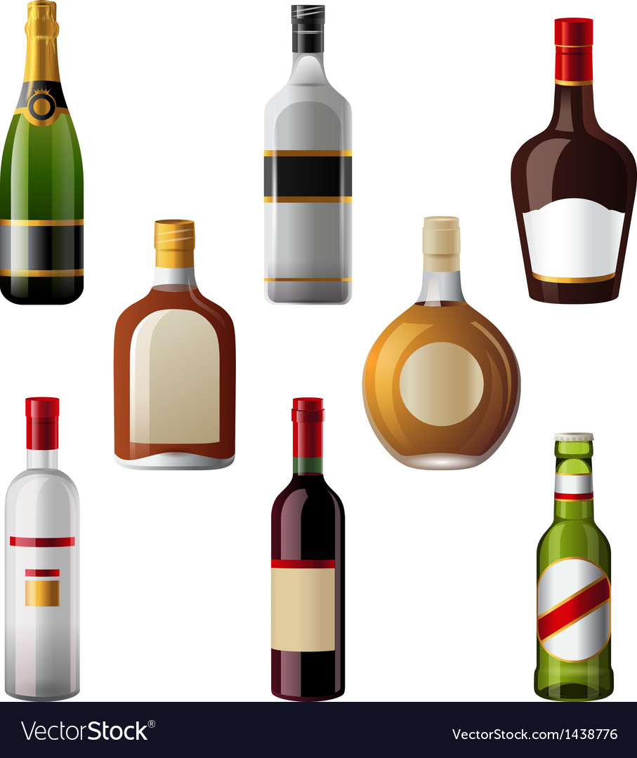 Alcohol drinks vector | Price: 1 Credit (USD $1)