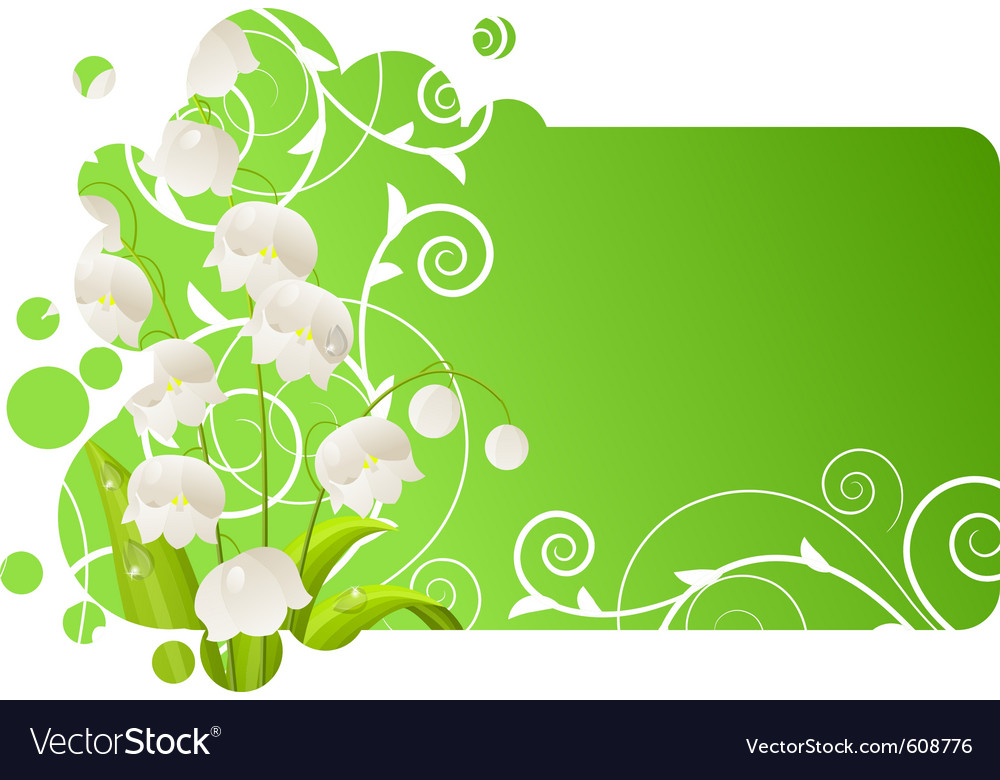 Beautiful frame with lily of the valley vector | Price: 1 Credit (USD $1)