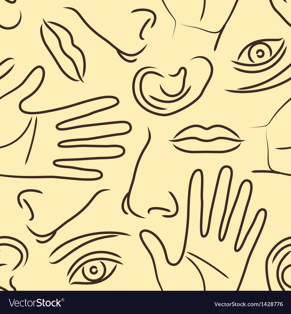 Body parts pattern vector | Price: 1 Credit (USD $1)