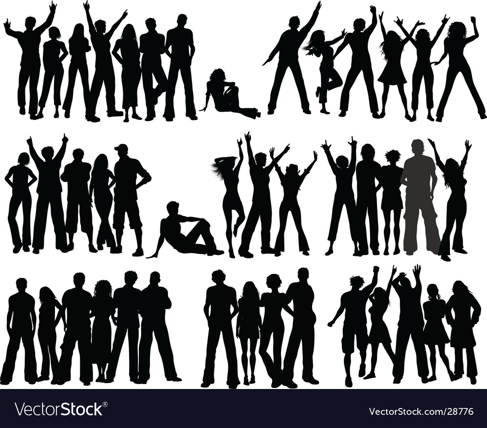 Crowds vector | Price: 1 Credit (USD $1)