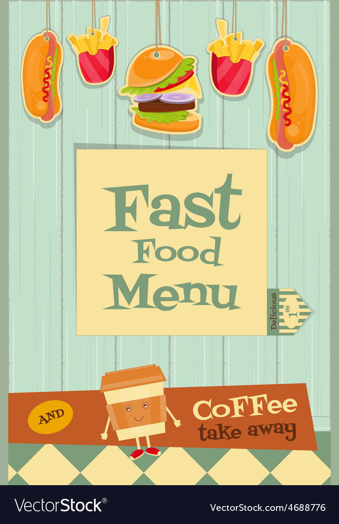 Fast food brochure vector | Price: 1 Credit (USD $1)