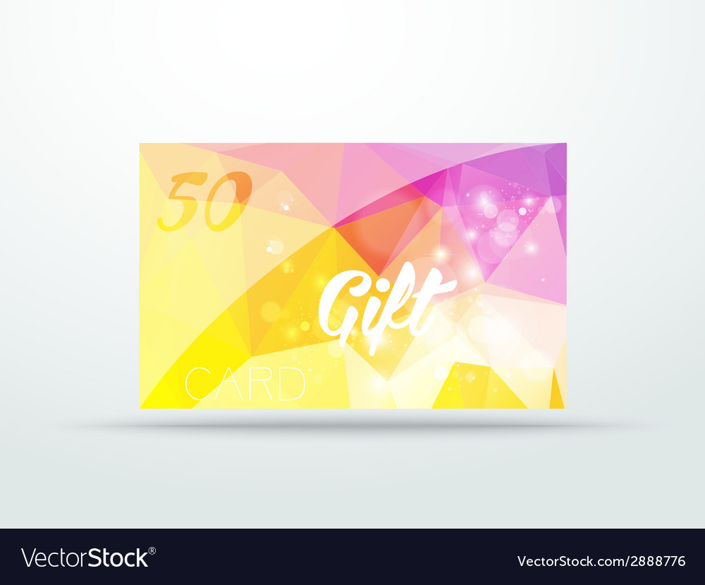 Gift greeting card yellow lila glitter with shine vector | Price: 1 Credit (USD $1)