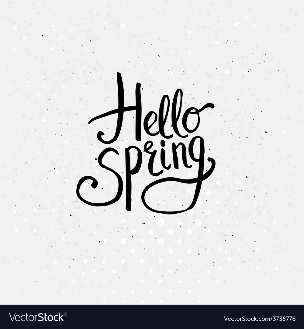 Hello spring concept graphic design vector | Price: 1 Credit (USD $1)