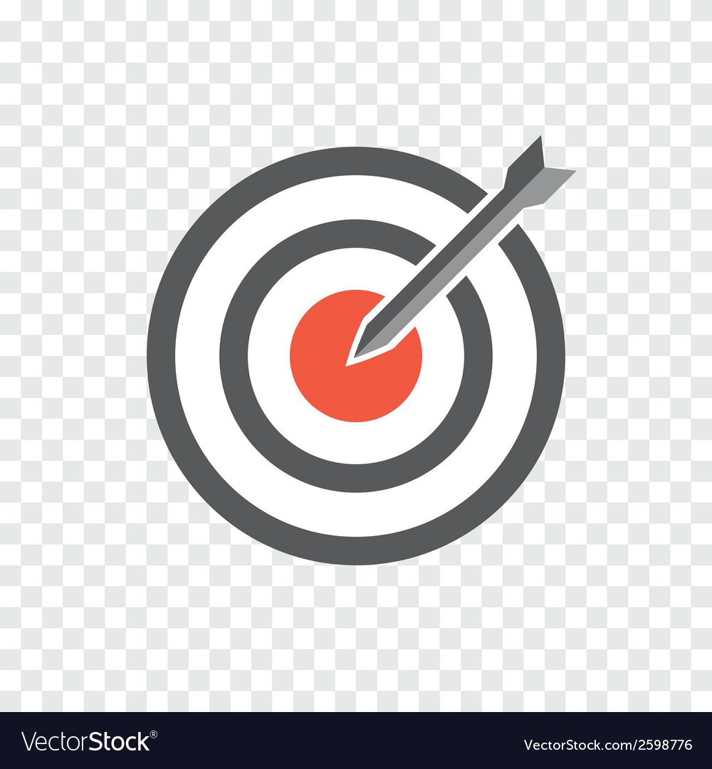 Hit the bullseye vector | Price: 1 Credit (USD $1)