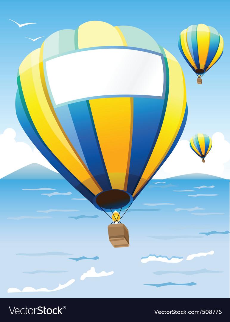Hot air balloons vector | Price: 1 Credit (USD $1)