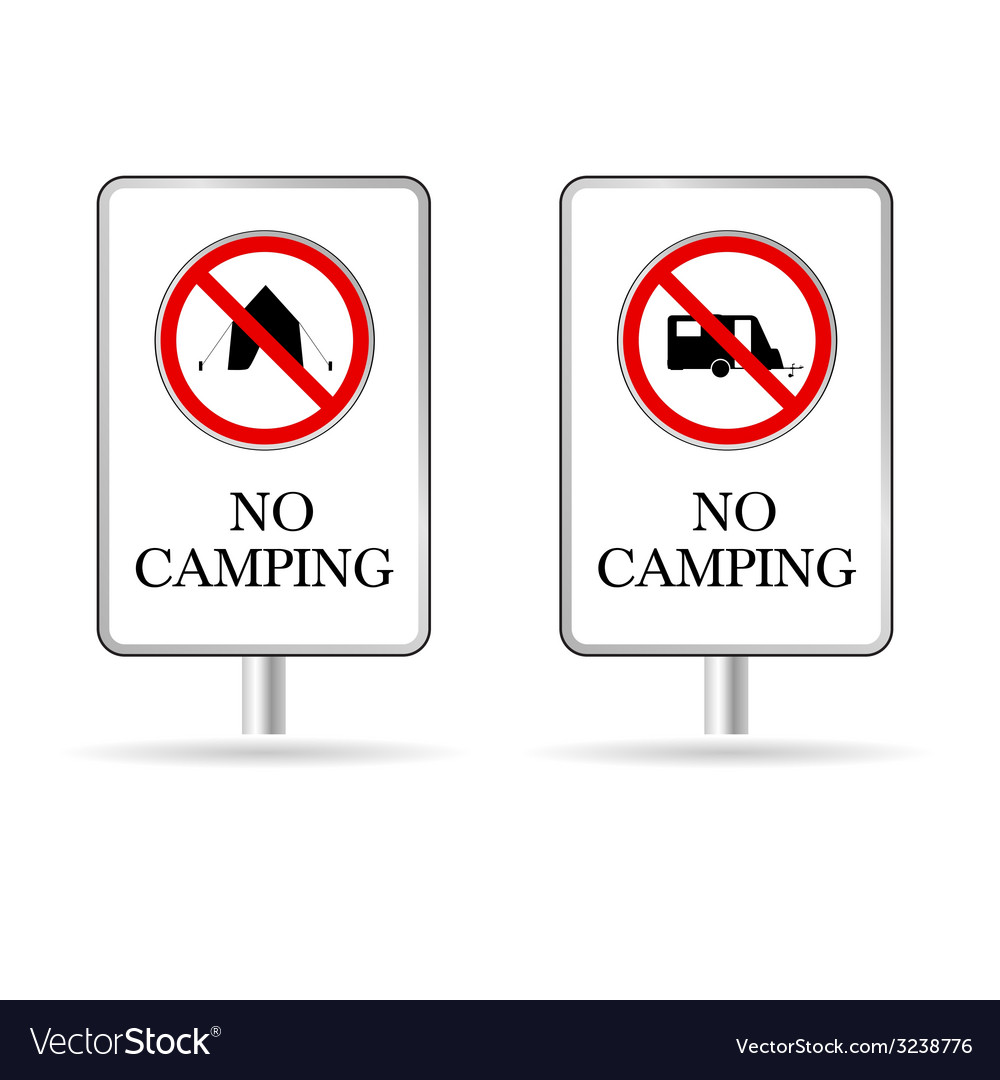 No camping sign vector | Price: 1 Credit (USD $1)
