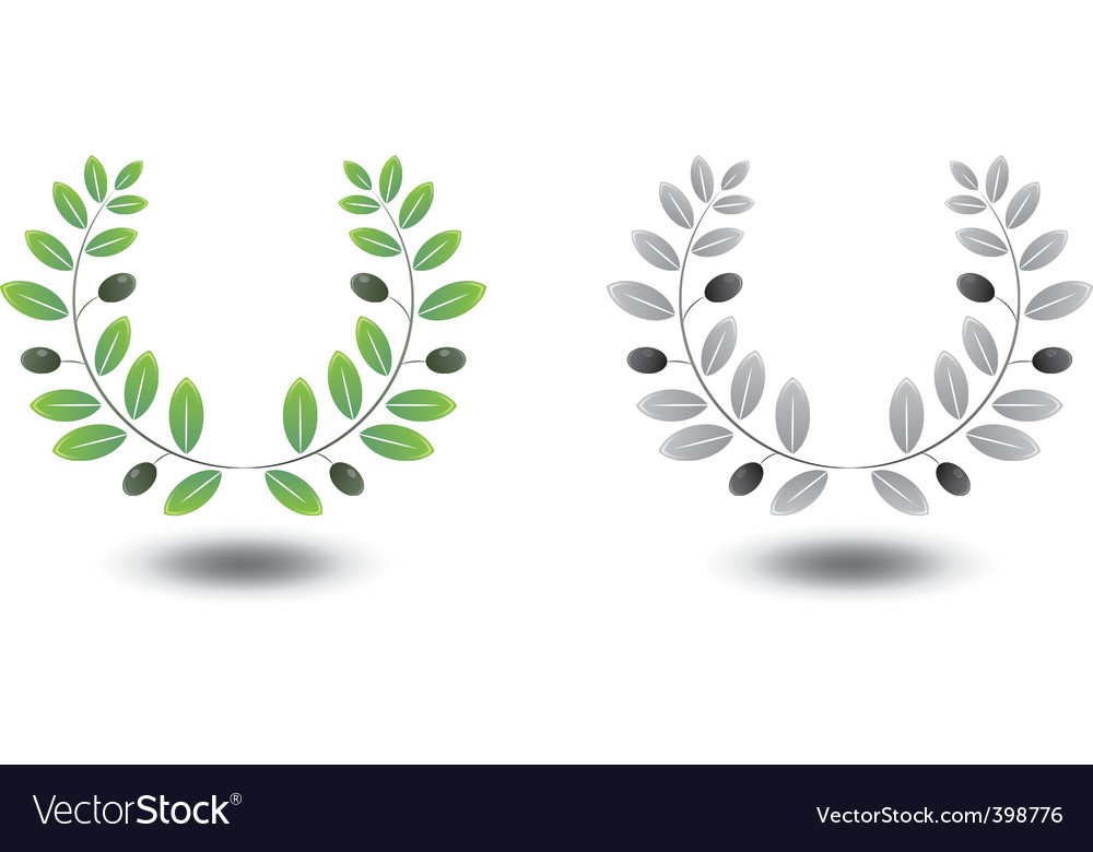 Olive wreaths vector | Price: 1 Credit (USD $1)
