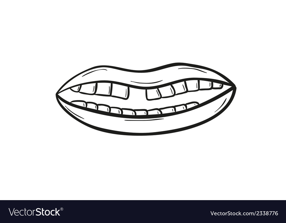 Sketch of the mouth vector | Price: 1 Credit (USD $1)