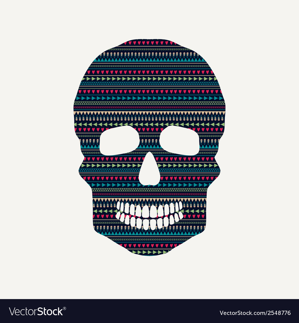 Skull with pattern vector | Price: 1 Credit (USD $1)