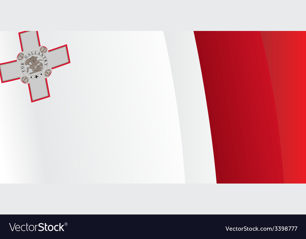 Background with waving malta flag vector | Price: 1 Credit (USD $1)