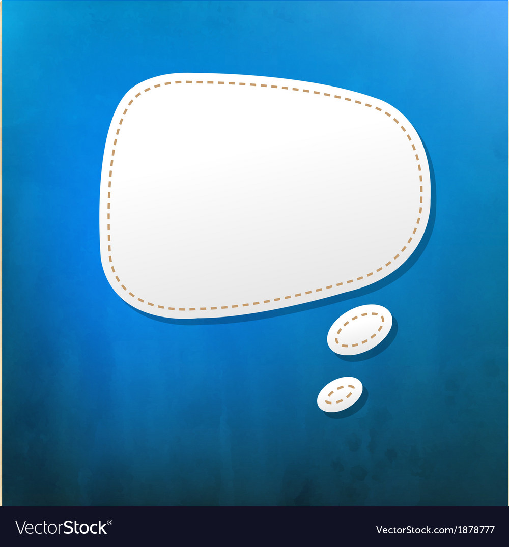 Blue texture with speech bubble vector | Price: 1 Credit (USD $1)