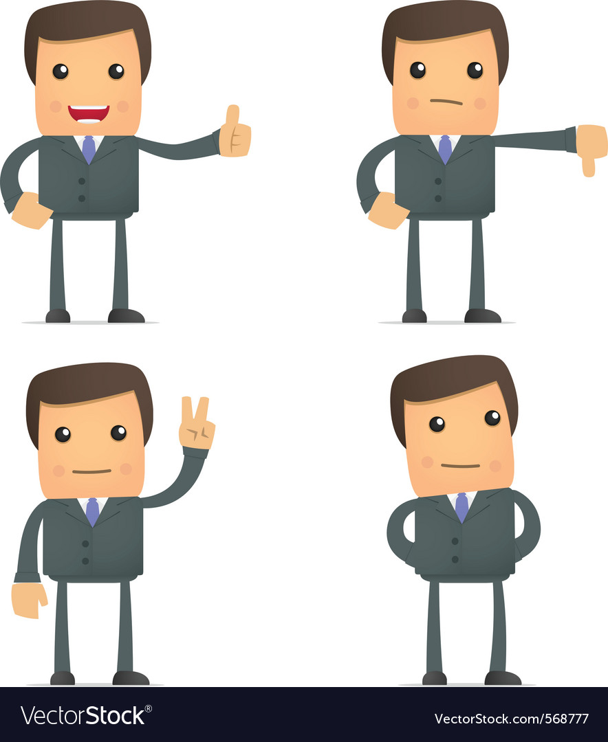 Cartoon businessman vector | Price: 1 Credit (USD $1)