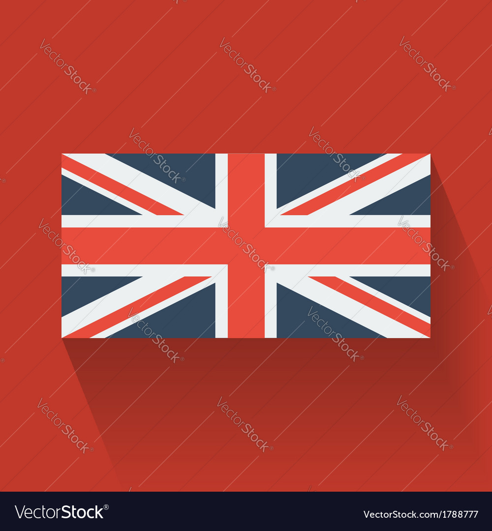 Flat flag of the uk vector | Price: 1 Credit (USD $1)