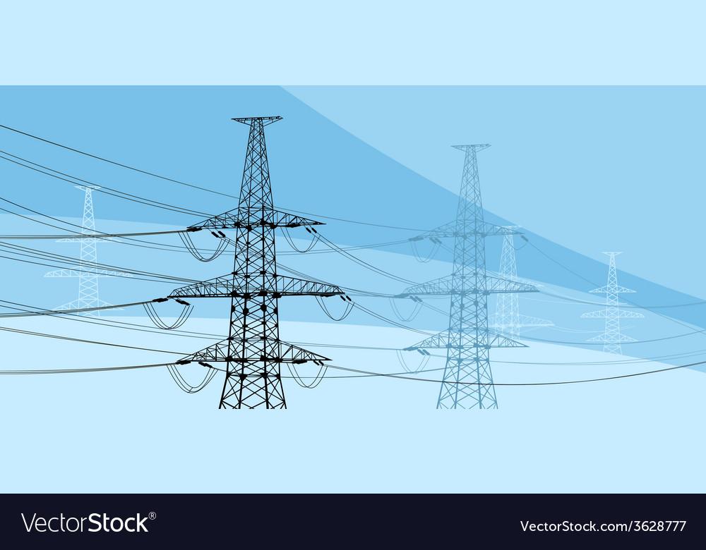 Power lines vector | Price: 1 Credit (USD $1)