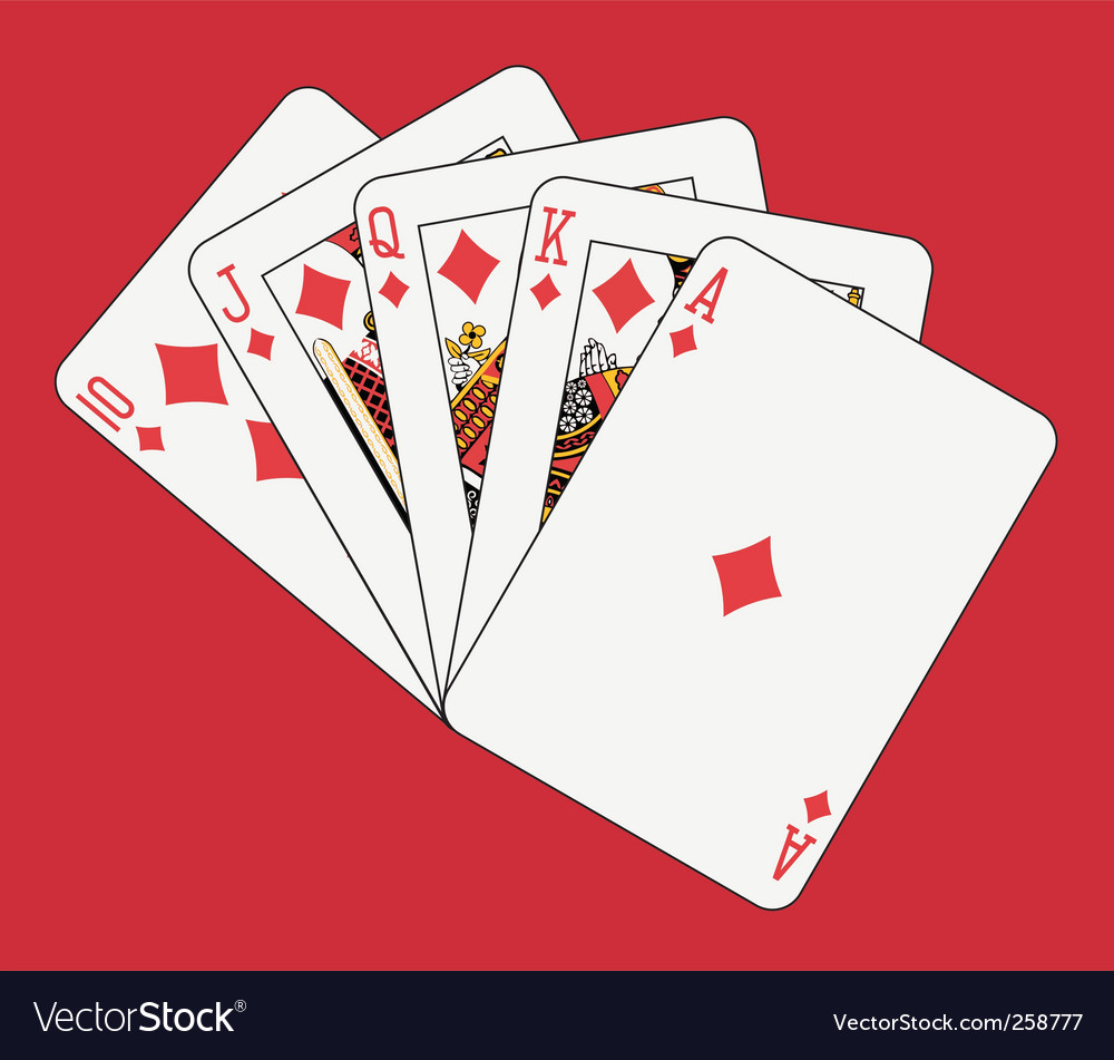 Royal flush diamonds vector | Price: 1 Credit (USD $1)