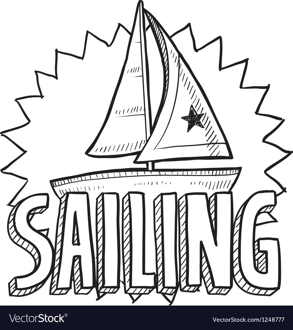 Sailing vector | Price: 1 Credit (USD $1)
