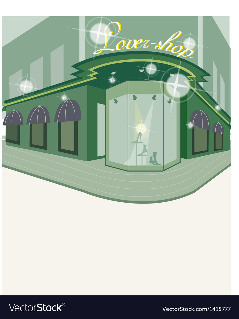 Street shop view vector | Price: 1 Credit (USD $1)