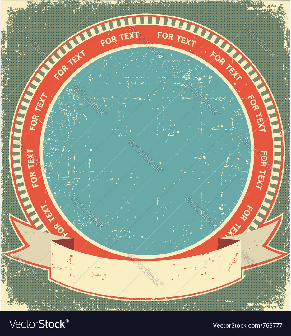 Vintage label background vector