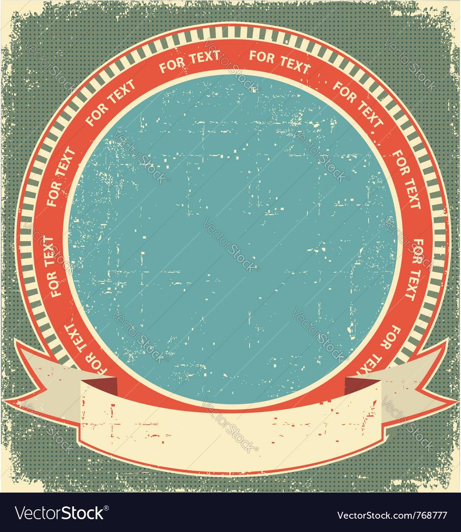 Vintage label background vector | Price: 1 Credit (USD $1)
