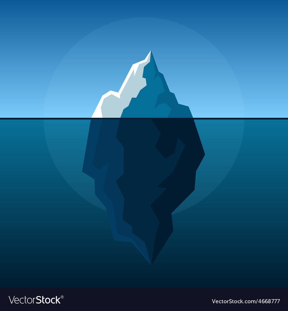 White iceberg on blue atlantic background vector | Price: 1 Credit (USD $1)
