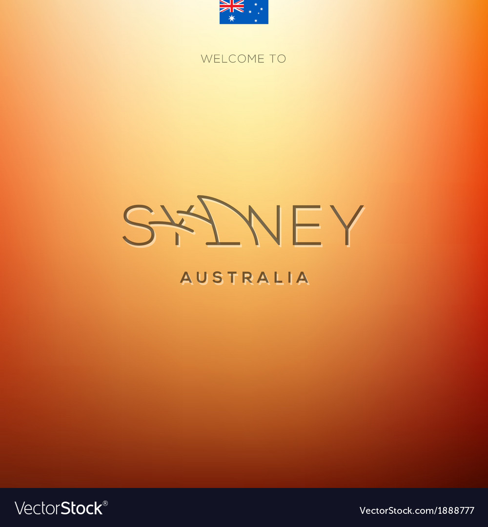 World cities labels -sydney vector | Price: 1 Credit (USD $1)