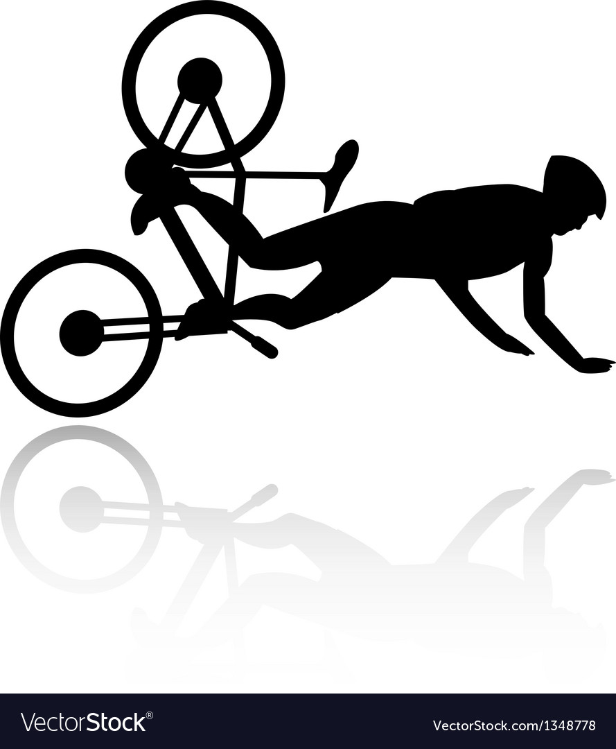 Bike accident vector | Price: 1 Credit (USD $1)