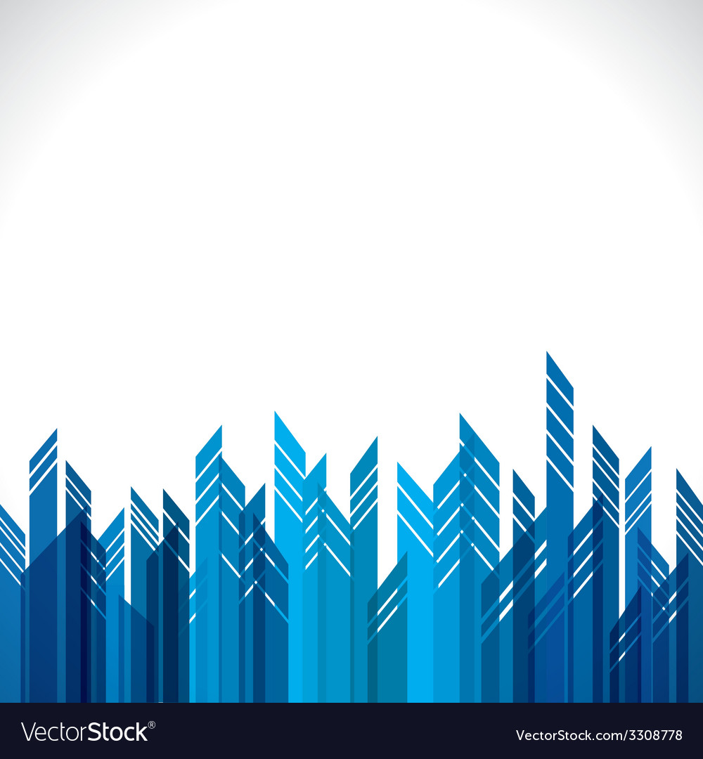 Blue building stock background vector | Price: 1 Credit (USD $1)
