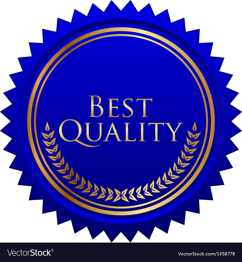 Blue seal gold laurels vector | Price: 1 Credit (USD $1)
