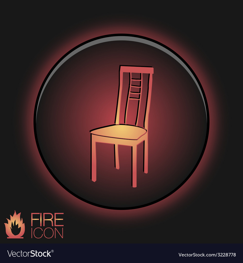 Chair icon symbol furniture icon home interior vector | Price: 1 Credit (USD $1)