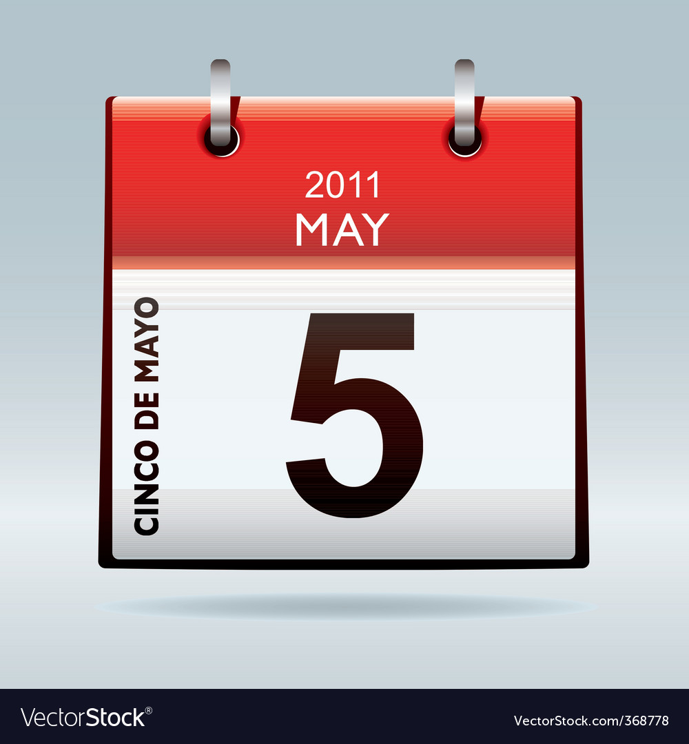 Cinco de mayo calendar icon vector | Price: 1 Credit (USD $1)