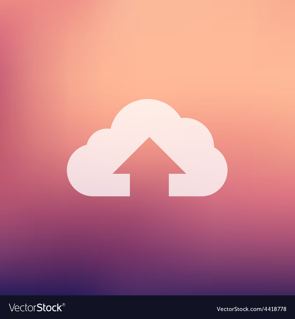 Cloud upload in flat style icon vector