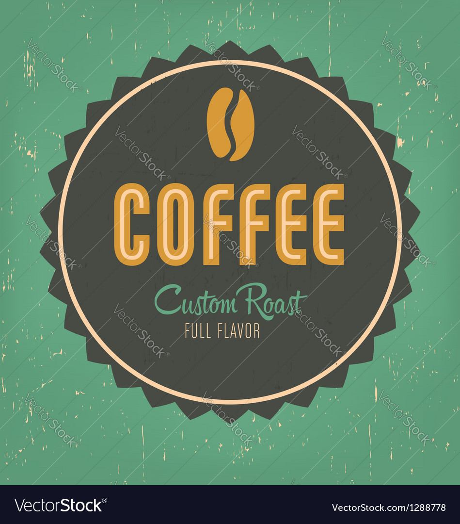 Coffee label vector | Price: 1 Credit (USD $1)