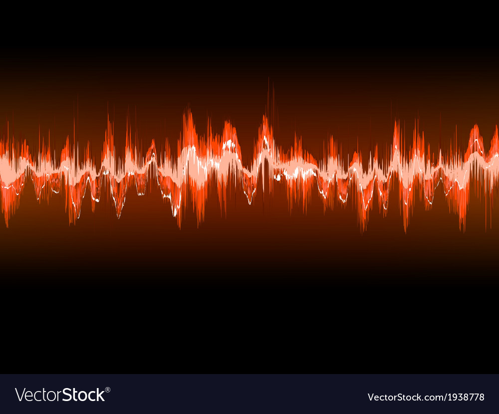 Electronic sine sound or audio waves eps 10 vector | Price: 1 Credit (USD $1)