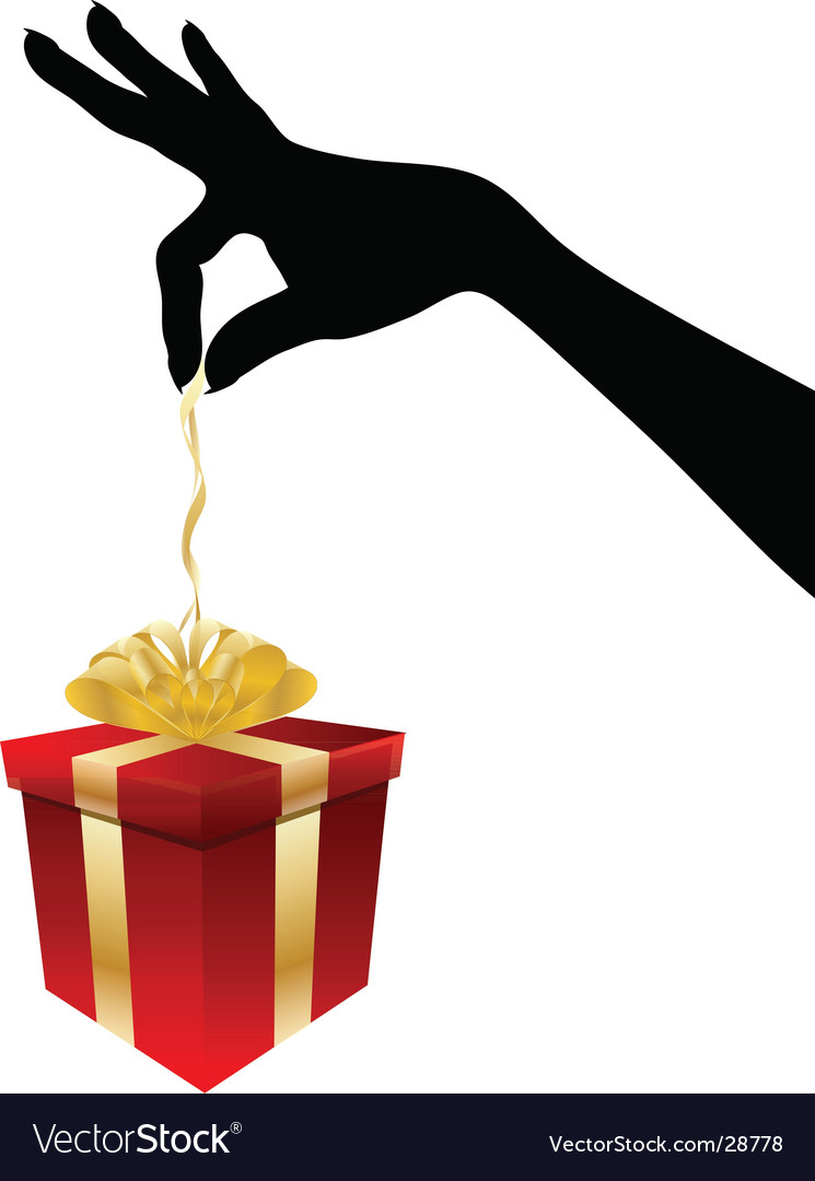 Giving gift vector | Price: 1 Credit (USD $1)