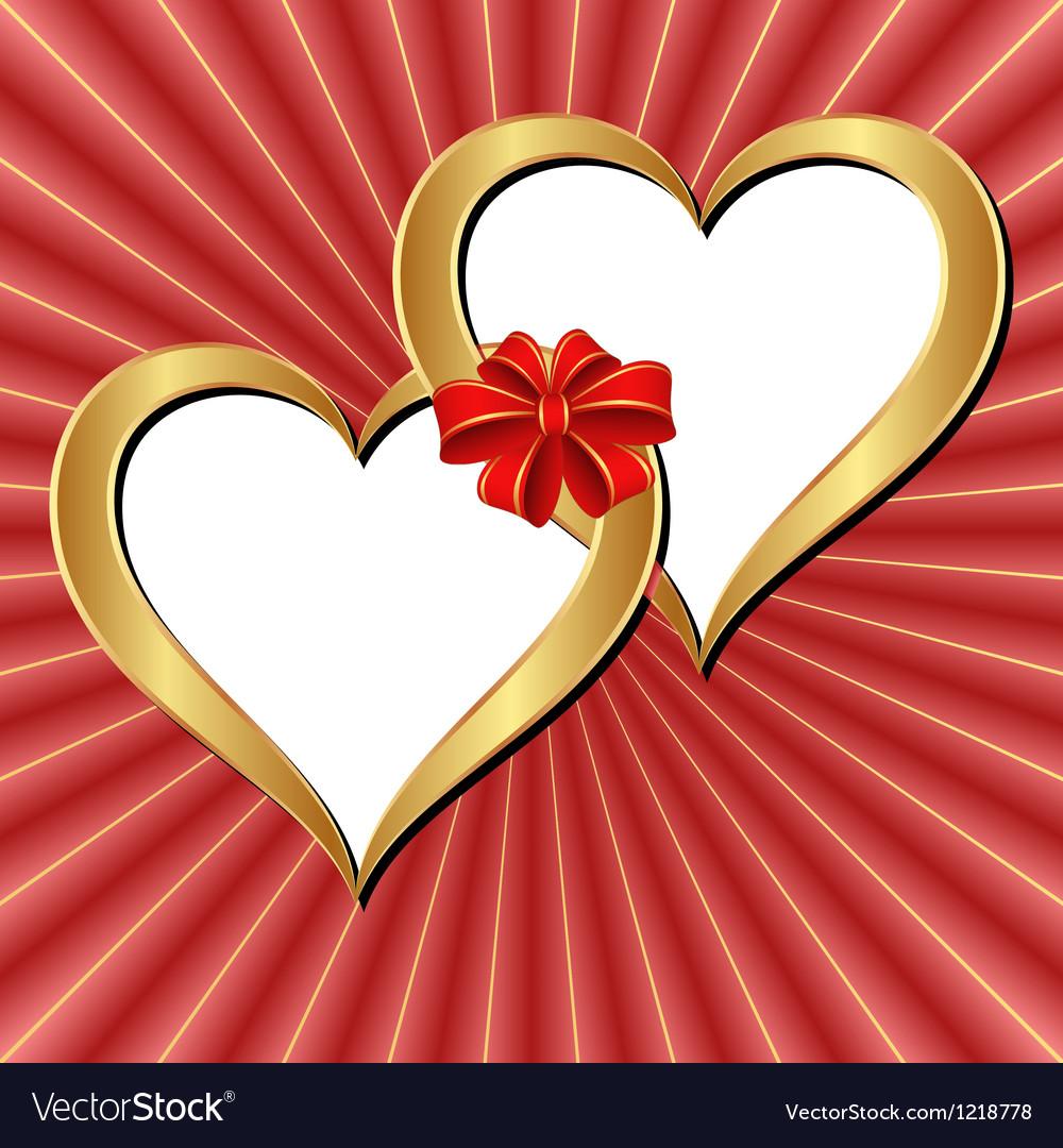 Golden hearts vector | Price: 1 Credit (USD $1)