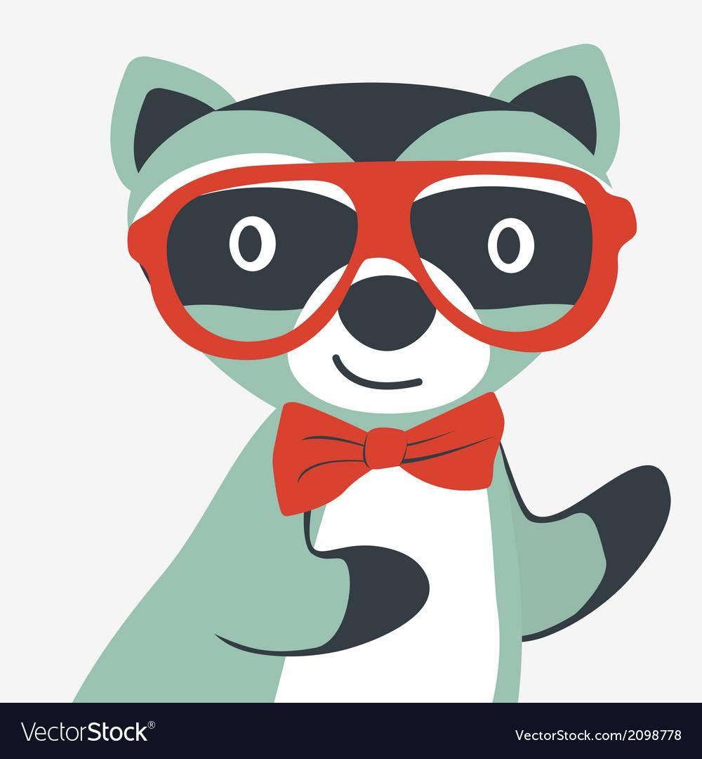 Happy raccoon gentleman vector   Price: 1 Credit (USD $1)
